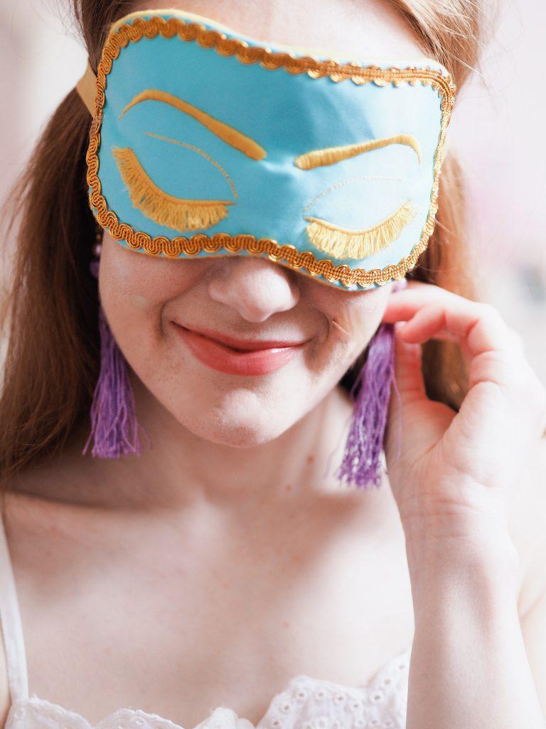 ShushBear Mask | Breakfast at Tiffany's Holly Golightly Eye Masks