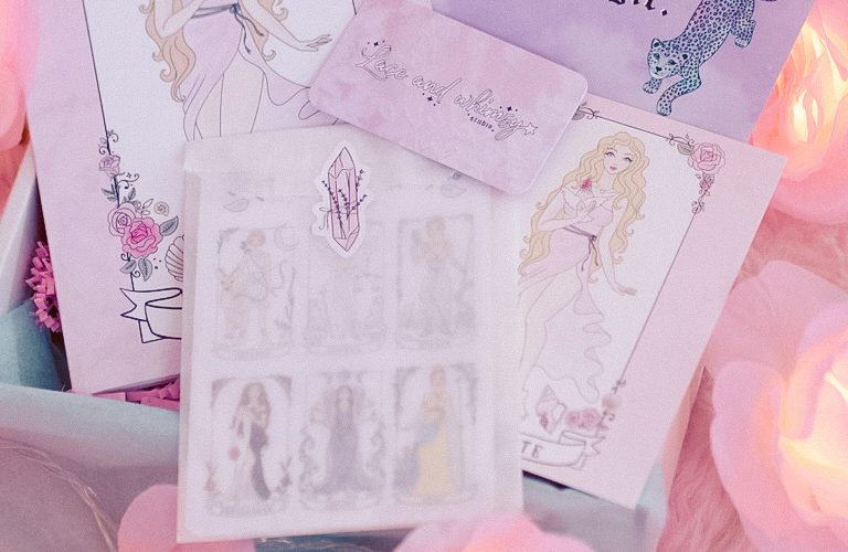 Lace and Whimsy Goddess Journals and Stickers